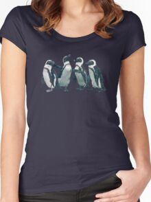 penguin party Women's Fitted Scoop T-Shirt
