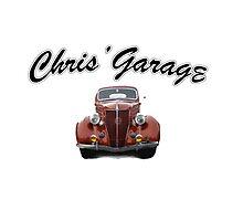 Chris' Garage Photographic Print