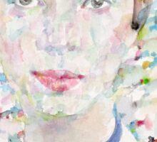 EMILY DICKINSON - watercolor portrait.4 Sticker