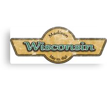 Wisconsin State Logo Canvas Print