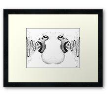 Shouting Back - B&W Framed Print
