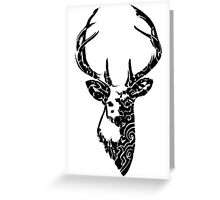 Tribal Deer Greeting Card