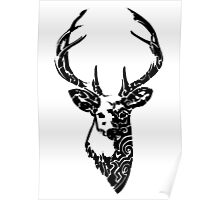 Tribal Deer Poster