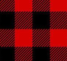 Red Plaid Christmas Pattern Sticker