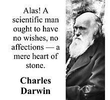 Alas A Scientific Man - Charles Darwin Photographic Print