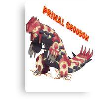 Primal Groudon (Pokemon Omega Ruby) Canvas Print