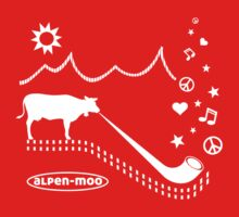 ALPEN-MOO t-shirt alphorn cow mountains alps Kids Tee