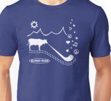 ALPEN-MOO t-shirt alphorn cow mountains alps Unisex T-Shirt