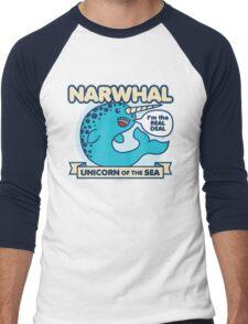 Narwhal Men's Baseball ¾ T-Shirt