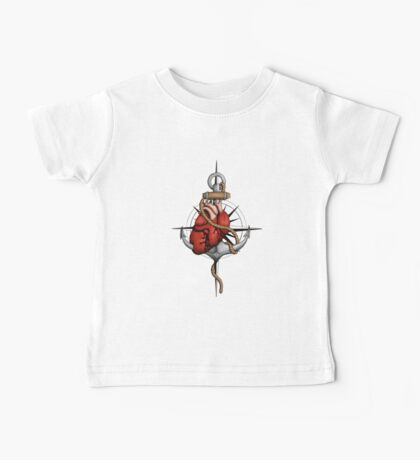 Love and Sea (anchor with heart and compass) Baby Tee