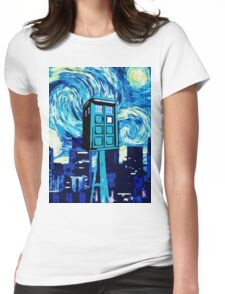 tardis doctor who  Womens Fitted T-Shirt