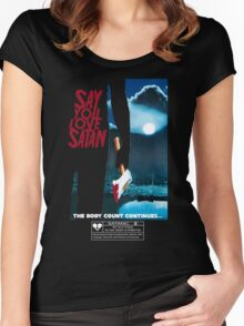 Say You Love Satan 80s Horror Podcast - Friday the 13th Women's Fitted Scoop T-Shirt