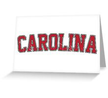 Carolina Garnet Jersey VINTAGE Greeting Card