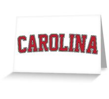 Carolina Garnet Jersey Greeting Card
