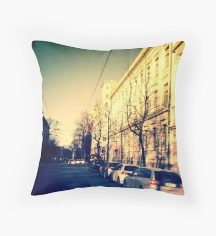 street in Helsinki Throw Pillow