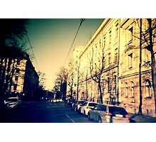 street in Helsinki Photographic Print