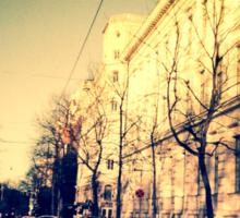 street in Helsinki Sticker