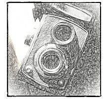 Vintage Camera - Sketch Photographic Print