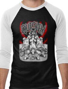 Say You Love Satan 80s Horror Podcast - Linnea Quigley - Night of the Demons - Return of the Living Dead Men's Baseball ¾ T-Shirt