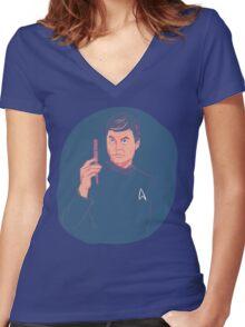 Doctor McCoy Women's Fitted V-Neck T-Shirt