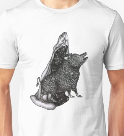The Girl and the Boar Unisex T-Shirt