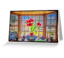 Amaryllis view of Spring Greeting Card
