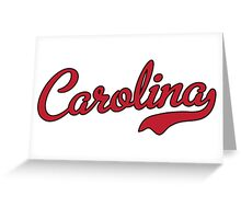 Carolina Script Garnet Black Outline Greeting Card