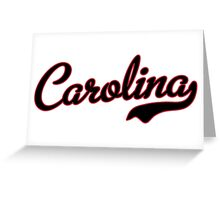 Carolina Script Black Garnet Outline Greeting Card