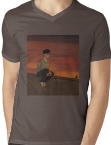 Z - OFF WHERE THE WIND BLOWS Mens V-Neck T-Shirt