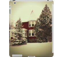 Vintage Style Winter Scene iPad Case/Skin