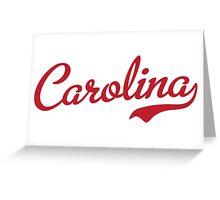 Carolina Garnet Script Greeting Card
