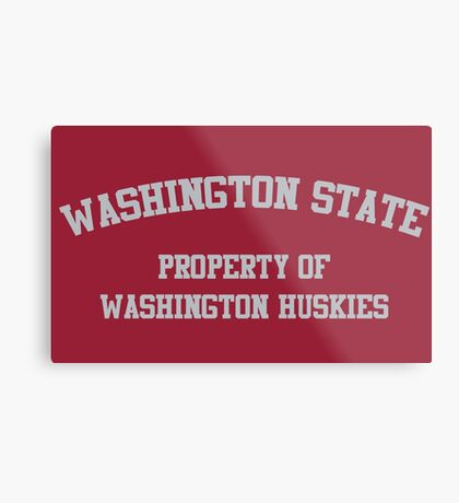 Washington - Washington State Rivalry Metal Print