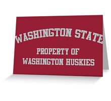 Washington - Washington State Rivalry Greeting Card
