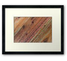 Wood background Framed Print