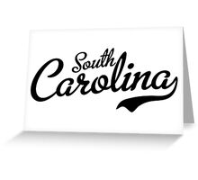 South Carolina Script Black Greeting Card