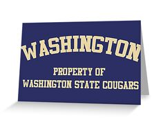 Washington State - Washington Rivalry Greeting Card