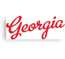 Georgia Script Red  Canvas Print
