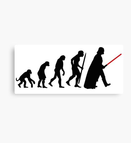 Evolution  lightsaber Canvas Print
