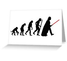 Evolution  lightsaber Greeting Card