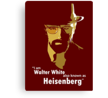 Walter White new Custom image Canvas Print