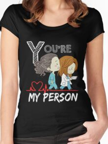 Grey Doctor You are my person  Women's Fitted Scoop T-Shirt