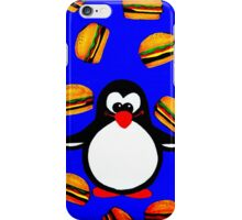 Penguin with Cheeseburgers iPhone Case/Skin