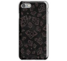Modern faux rose gold glitter gemstones iPhone Case/Skin