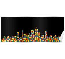 Boston Skyline 4 Poster