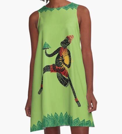 Hanuman's Leap A-Line Dress