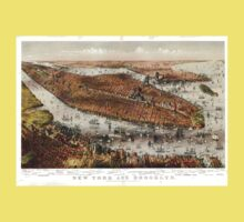 New York and Brooklyn - 1875 Kids Tee