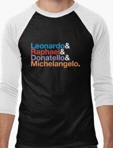 The Turtles (Color & White) Men's Baseball ¾ T-Shirt