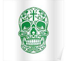 Sugar Skull Green Poster