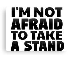 eminem i'm not afraid rap hip hop inspirational lyrics t shirts Canvas Print