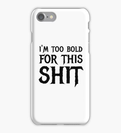 heavy metal funny cool rock dark bold person hard rock concert t shirts iPhone Case/Skin